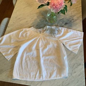 Gap white flowy blouse